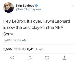 Skip Bayless Twitter
