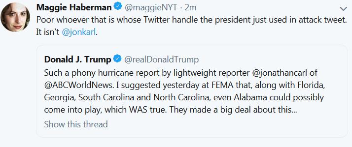 Maggie Haberman Twitter